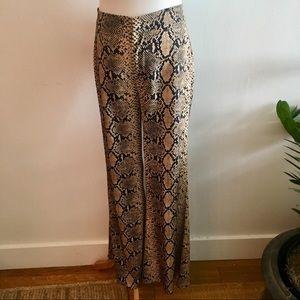Zara Leopard Wide Leg Pants